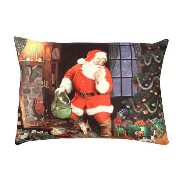 Christmas Santa Shhh párna, 33 x 48 cm
