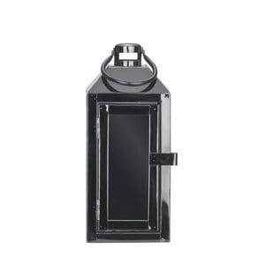 Černá kovová lucerna s poutkem Villa Collection, 24 cm