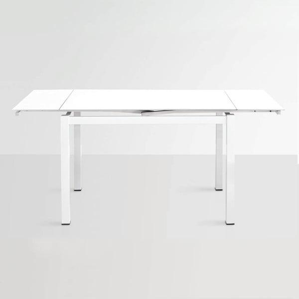 Rozkládací jídelní stůl Queen, 110-170 cm, bílý