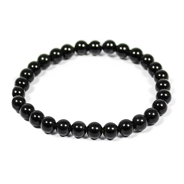 Brățară din minerale și obsidian Yogaly Obsidian, negru