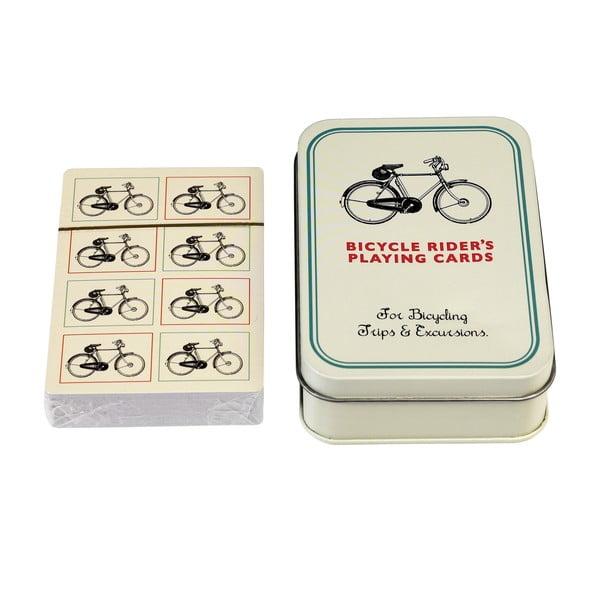 Cărți de joc în casetă de staniu Rex London Bicycle