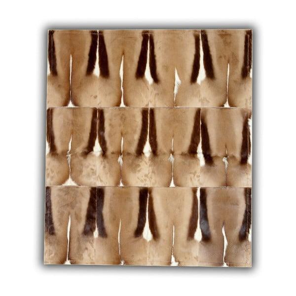 Koberec z pravé kůže Springbok, 120x180 cm