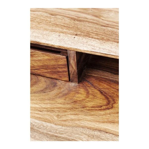 Birou din lemn exotic Kare Design Brooklyn, maro