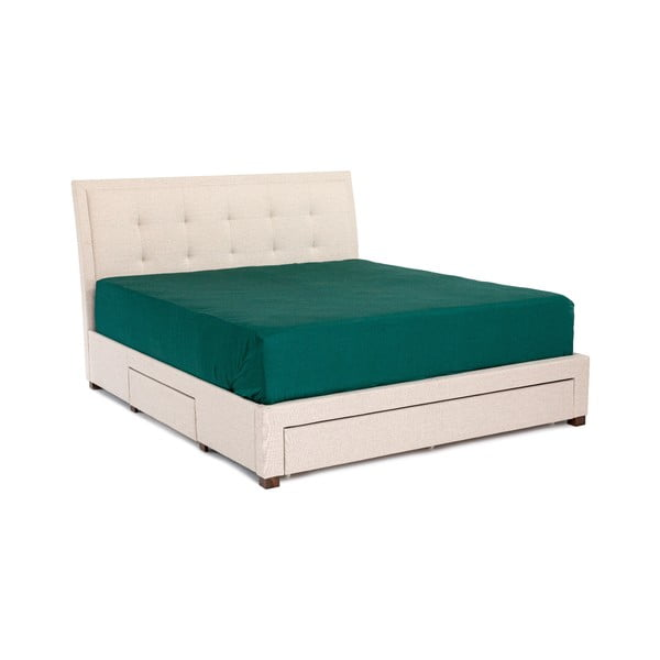 Béžová dvoulůžková postel Chez Ro Andover,160x200cm