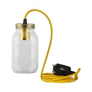 Svítidlo JamJar Lights, žlutý kulatý kabel
