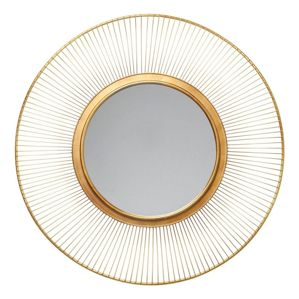 Zrcadlo zlaté barvy Kare Design Sun Storm, ⌀ 93 cm