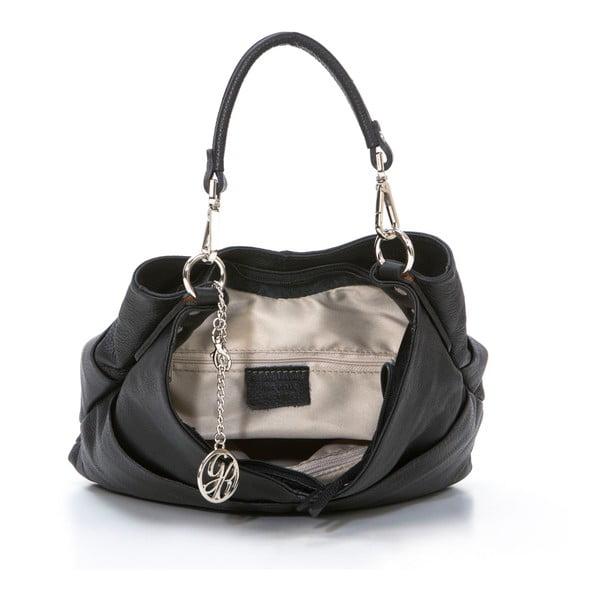 Kožená kabelka Guido, černá