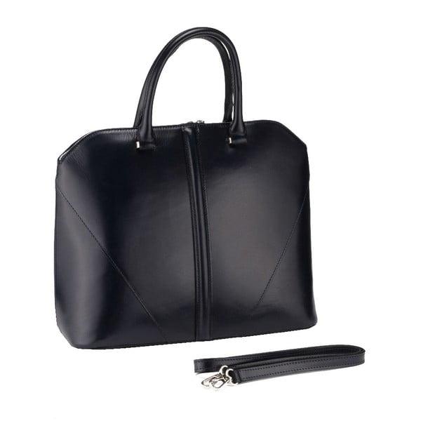Kožená kabelka Mango, černá