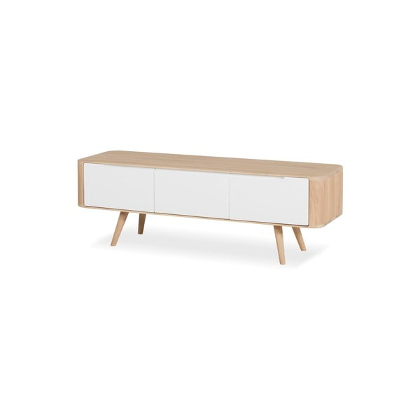 Televizní stolek z dubového dřeva Gazzda Ena, 135x42x45cm