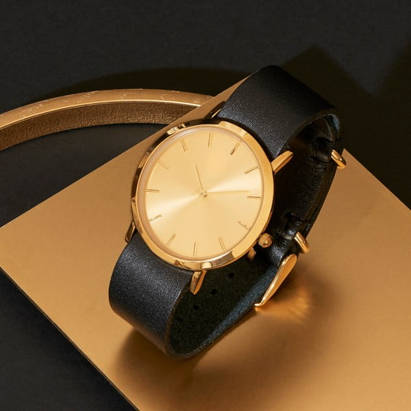 Černé hodinky Analog Watch Co. Classic