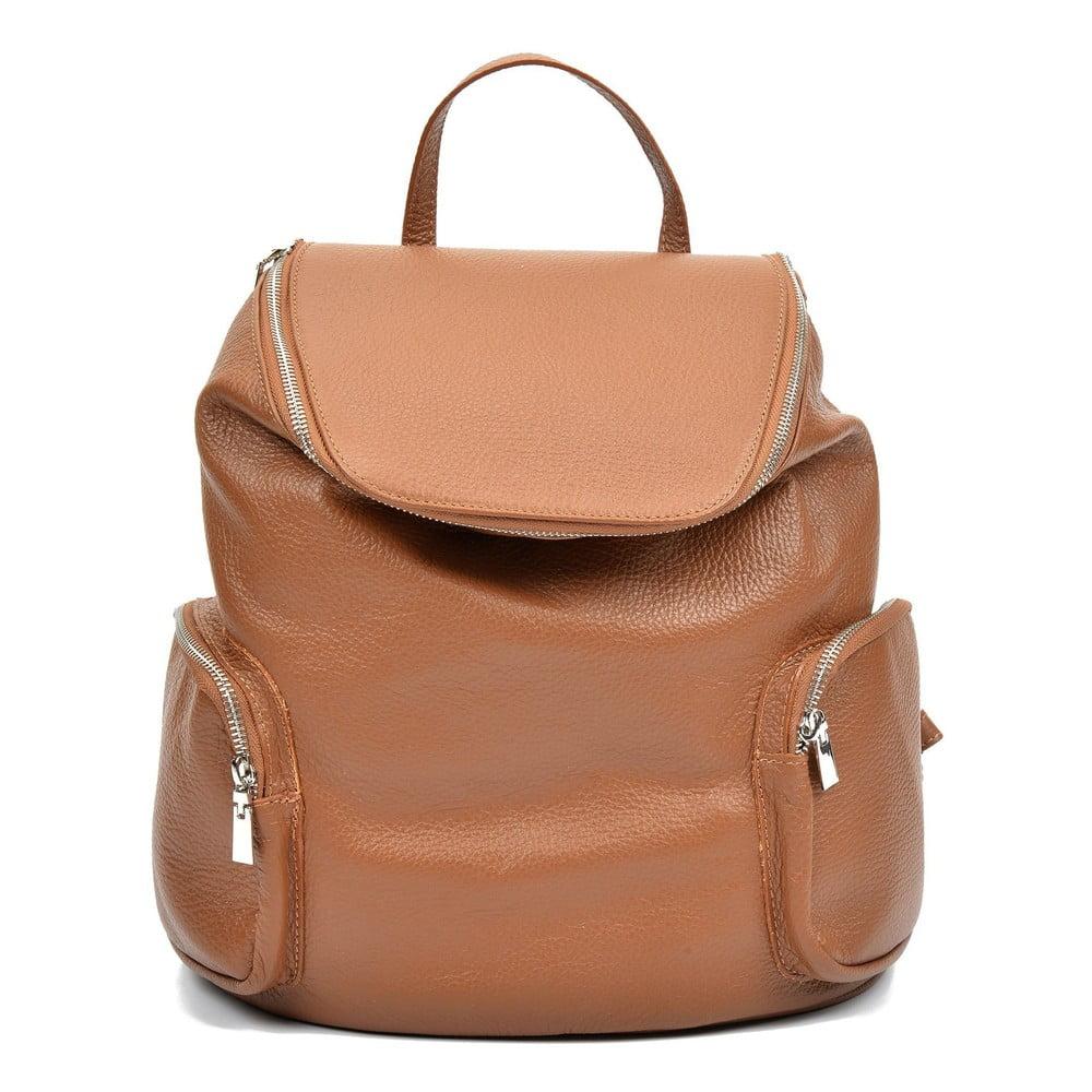 Hnědý kožený batoh Luisa Vannini Gemma