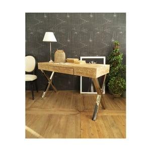 Pracovní stůl sdeskou zakátového dřeva Orchidea Milano Brooklyn