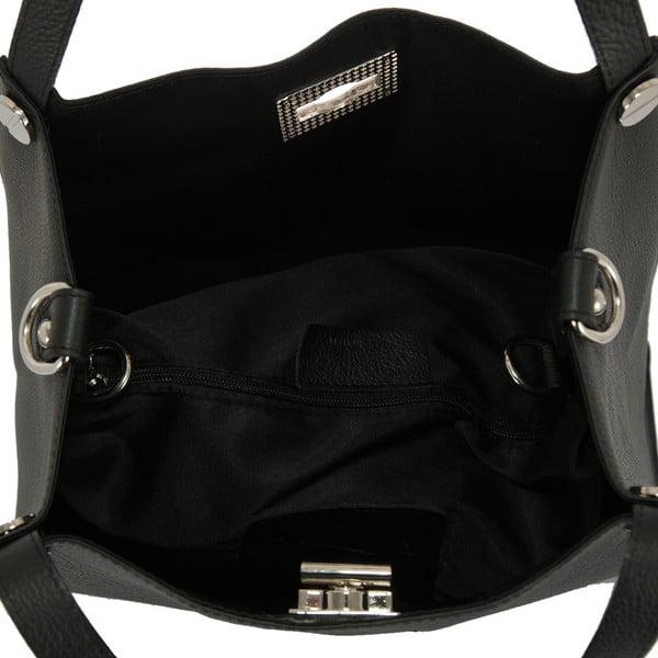 Černá kabelka z pravé kůže Andrea Cardone Fiorella