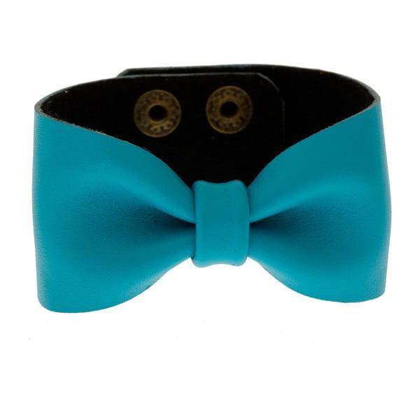 Kožený náramek Bow Blue
