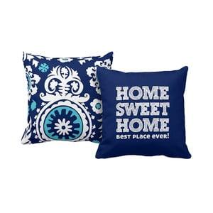 Set 2 polštářů Home Blue, 43x43 cm