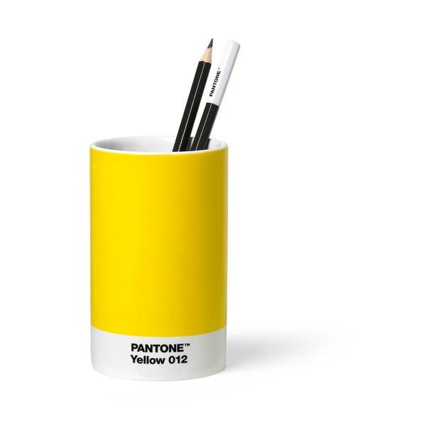Suport din ceramică pentru pixuri și creioane Pantone, galben