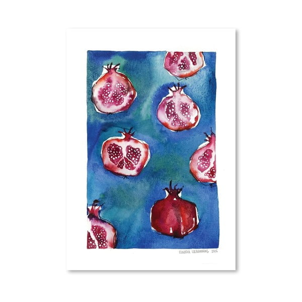 Plakát Pattern Pomegranate, 30x42 cm