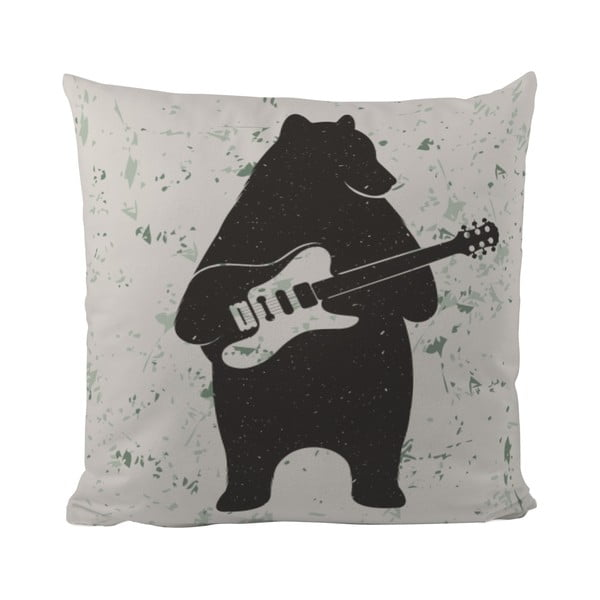 Polštář Butter Kings Bear and Guitar, 50x50 cm