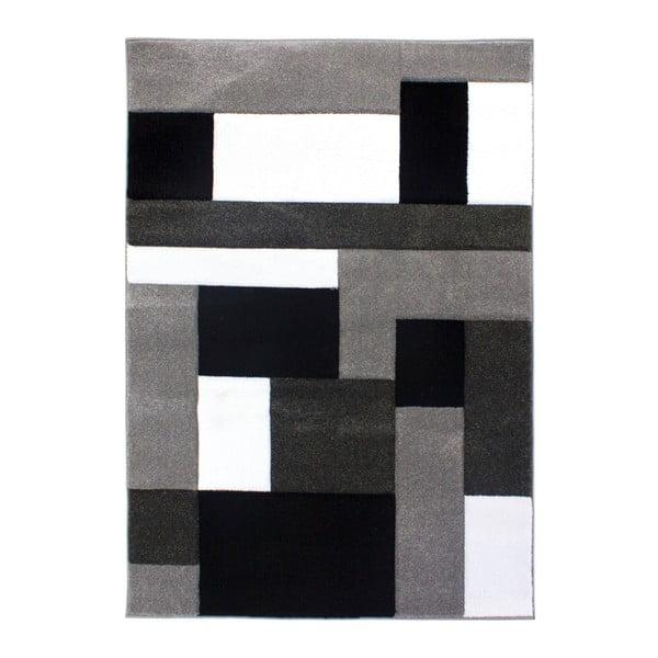 Čierno-sivý koberec Flair Rugs Cosmos Black Grey, 120×170cm