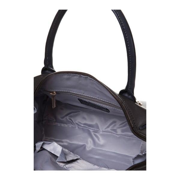 Kožená kabelka do ruky Marta Ponti Classy, šedá/béžová