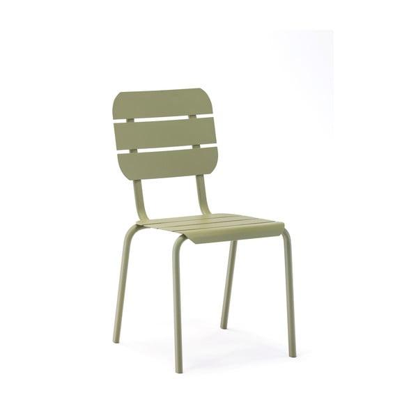 Sada 4 olivově zelených zahradních židlí Ezeis Alicante