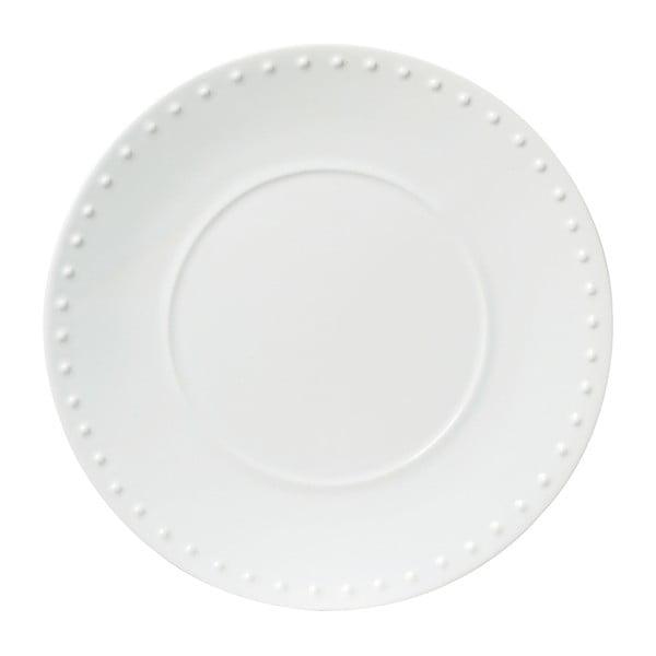 Bílý kameninový talíř Côté Table Caravane