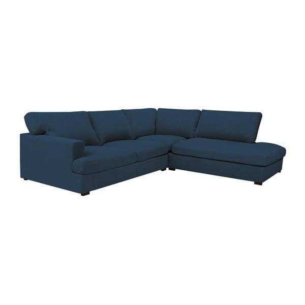 Modrá pohovka Windsor & Co Sofas Charles, pravý roh