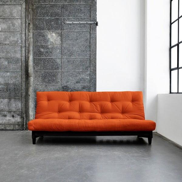 Rozkládací pohovka Karup Fresh Wenge/Orange