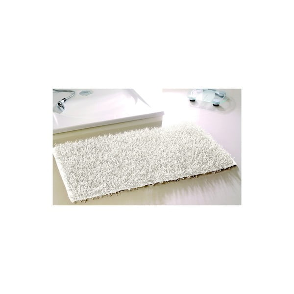 Koupelnová předložka Metallic Look White, 60x100 cm