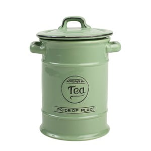 Doză ceramică pentru ceai T&G Woodware Pride of Place, verde