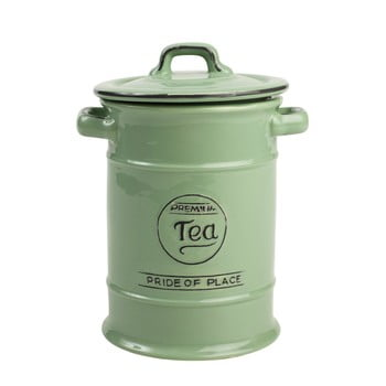 Doză ceramică pentru ceai T&G Woodware Pride of Place, verde de la T&G Woodware