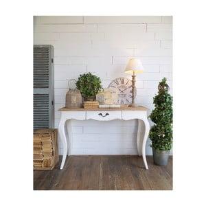 Hnědo-bílý konzolový stolek Orchidea Milano New Vintage