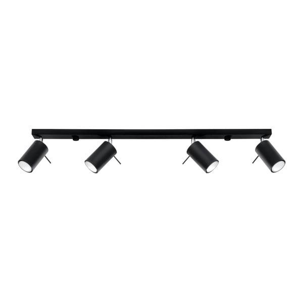 Čierne stropné svietidlo Nice Lamps Etna 4L