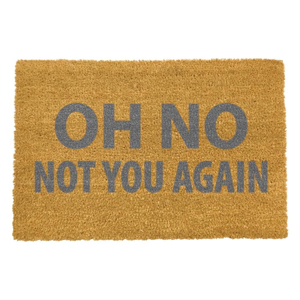 Rohožka z přírodního kokosového vlákna Artsy Doormats Oh No Not You Again Grey,40x60cm