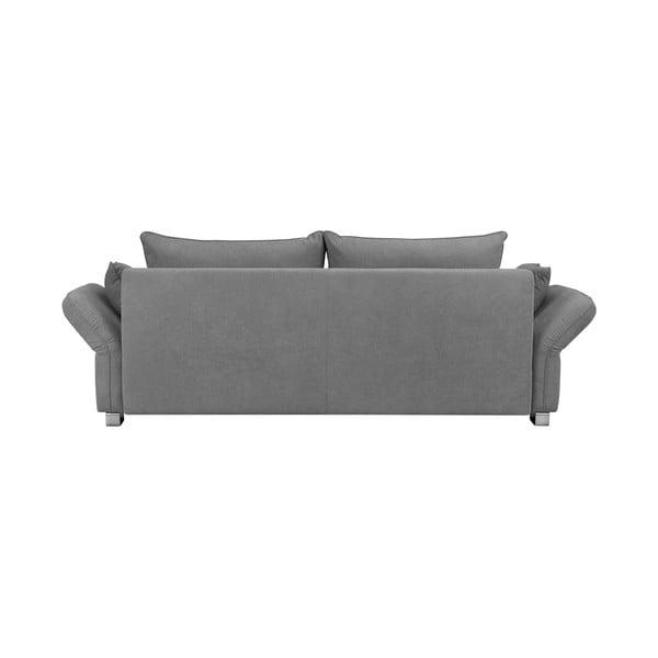 Světle šedá trojmístná rozkládací pohovka Windsor & Co Sofas Casiopeia