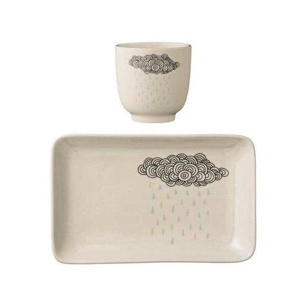 Set farfurie și cană din ceramică pentru copii Bloomingville Albert