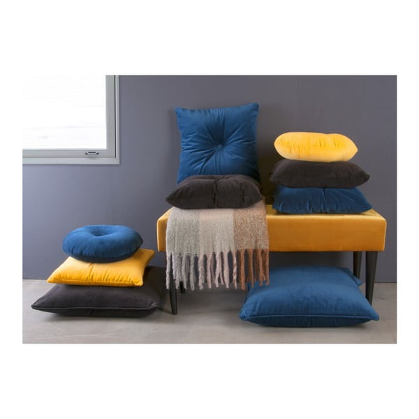 Žlutá lavice se sametovým potahem Leitmotiv Luxury
