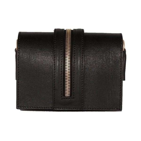 Černá kabelka z pravé kůže Andrea Cardone Rossina