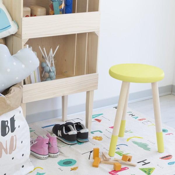 Stolička na sezení Socks, žlutá