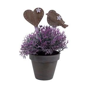 Sada 4 dekorativních zápichů do květináče s motivem srdce a ptáčka Ego Dekor