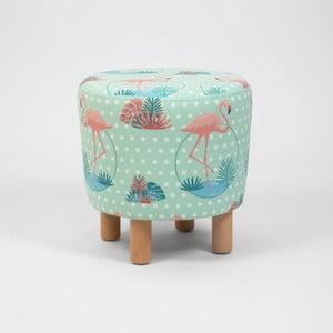 Taburet s dřevěnými nohami Cono Flamingo, ⌀41cm