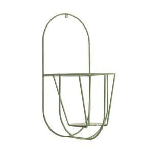 Zelený nástěnný držák na květináče OK Design, výška40cm
