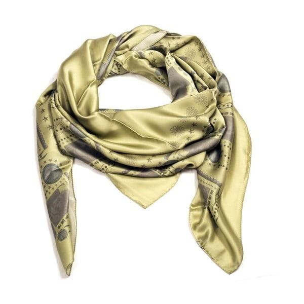 Šátek Nostalgia Green, 130x130 cm