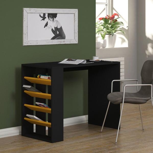 Antracitový pracovní stůl Homitis Section