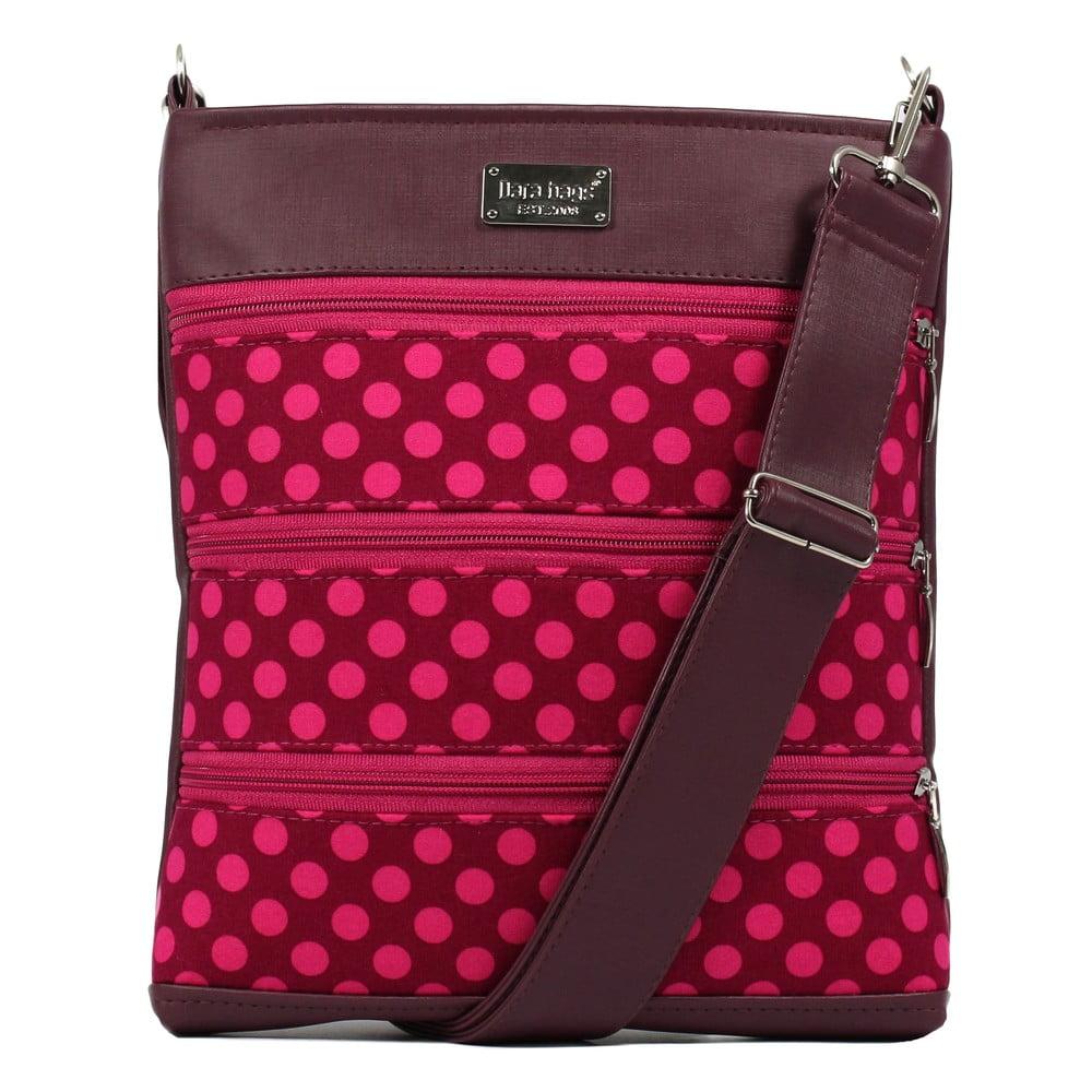 Růžová kabelka přes rameno Dara bags Dariana Middle No. 1161