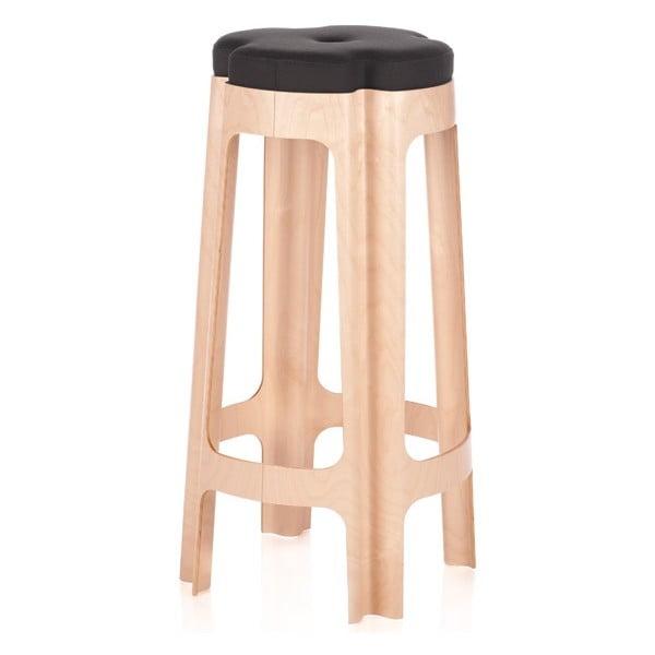Barová židle Bloom 82 cm, se šedým sedátkem