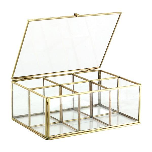 Skleněný box Six Brass