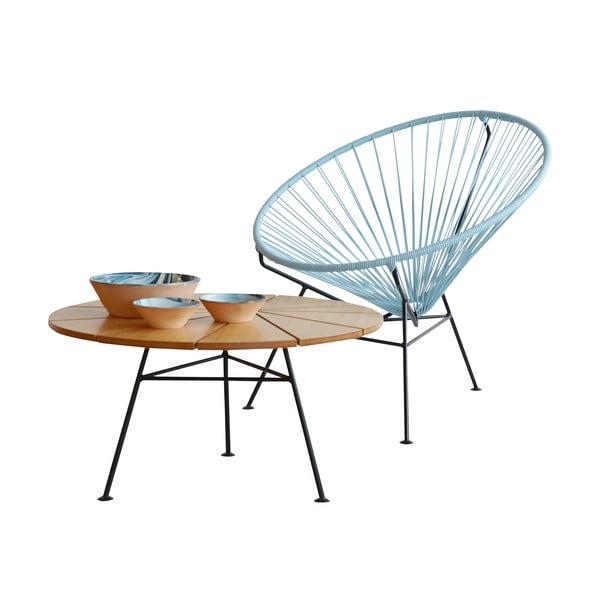 Odkládací stolek Bam Bam, přírodní, průměr 70 cm