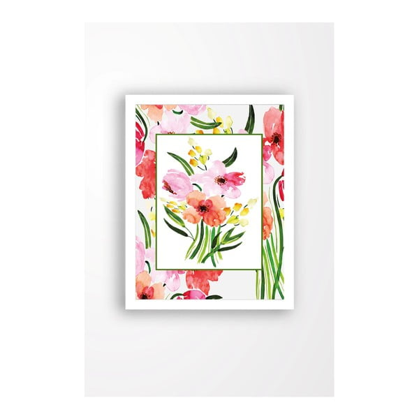 Tablou pe pânză în ramă albă Tablo Center My Garden, 29 x 24 cm