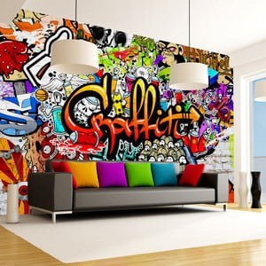 Velkoformátová tapeta Artgeist Colourful Graffiti, 400x280cm